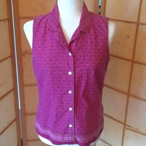 Style and co pink button down blouse